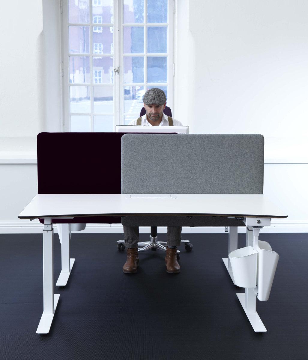 Screenit slide bordskærmvæg B100xH65 cm grå