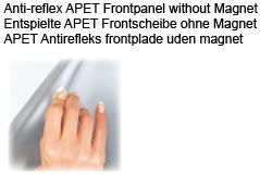 Antirefleks frontplade 70x100 u/magnet