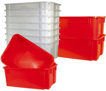 Stabelkasse 40 l, rød
