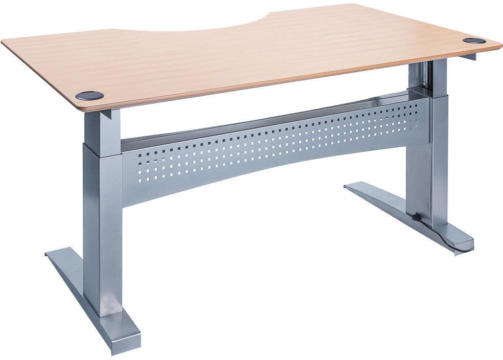 Easy stand 160 hæve/sænkebord centerbue, bøg/alu