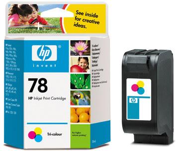 HP nr.78/C6578DE blækpatron, 3-farvet, 560s