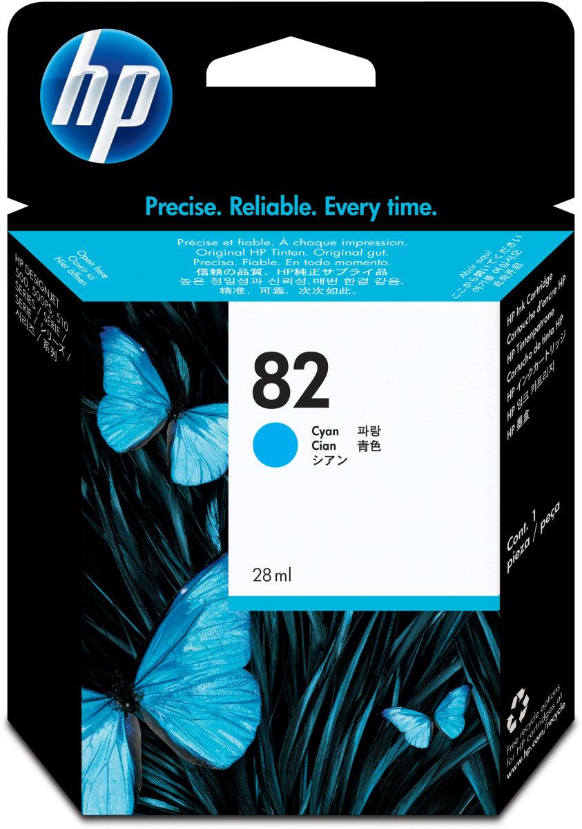 HP nr.82/C4911A blækpatron, blå, 69 ml