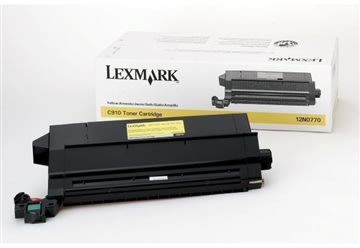 Lexmark 12N0770 lasertoner, gul, 14000s