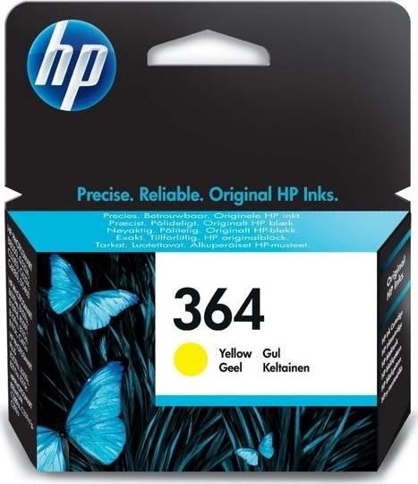 HP nr.364/CB320EE blækpatron, gul, 300s