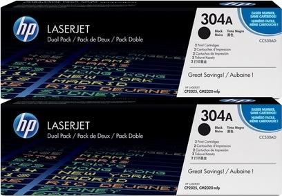 HP 304A/CC530AD lasertoner, sort, 7000s, 2pk