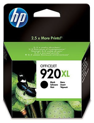 HP nr.920XL/CD975AE blækpatron, sort, 1200s
