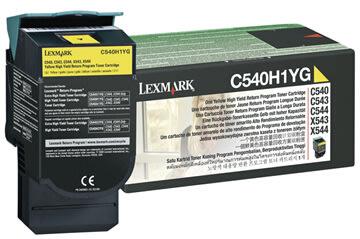 Lexmark C540H1YG lasertoner, gul, 2000s