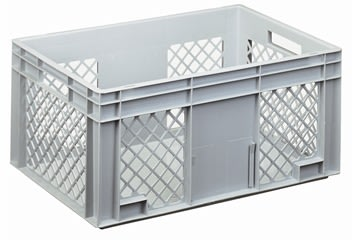 Lagerkasse perforeret 55 liter,(LxBxH) 60x40x28 cm