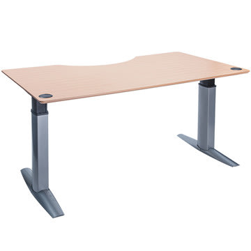 Goliath hæve/sænkebord centerbue 200 cm bøg/alu
