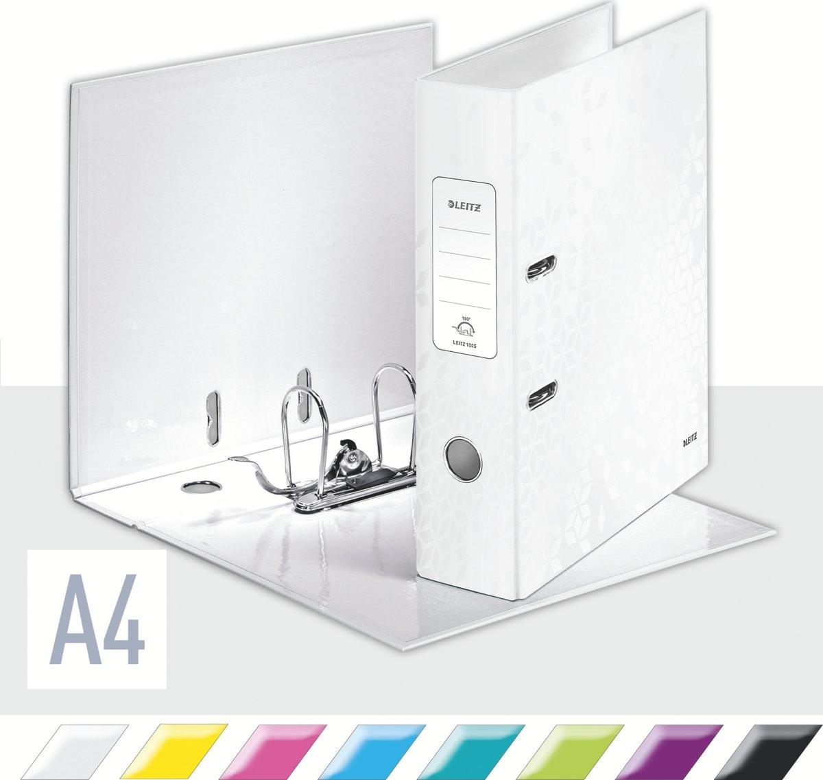 Leitz 180 WOW brevordner A4, 80mm, hvid