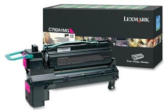 Lexmark C792A1MG lasertoner, rød, 6000s