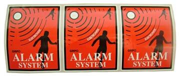 Gripo alarm mærkater indvendig montering 3stk