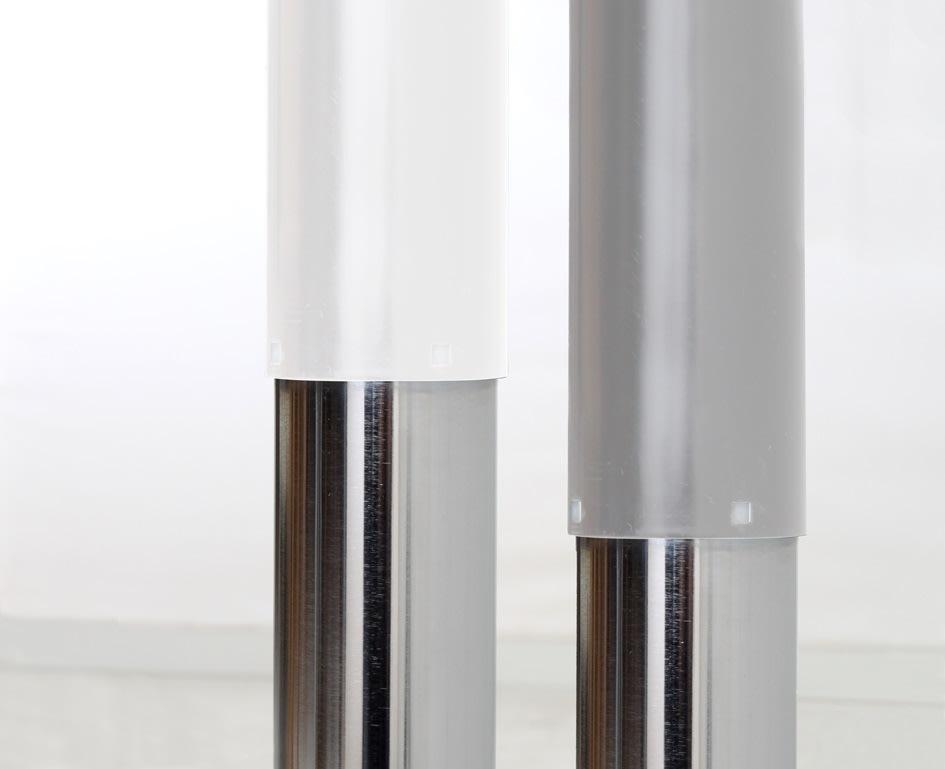 Flex hæve/sænkebord hvid/bøg 180 cm, højrevendt
