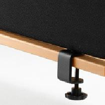 Abstracta softline bordbeslag sort sæt 37 mm