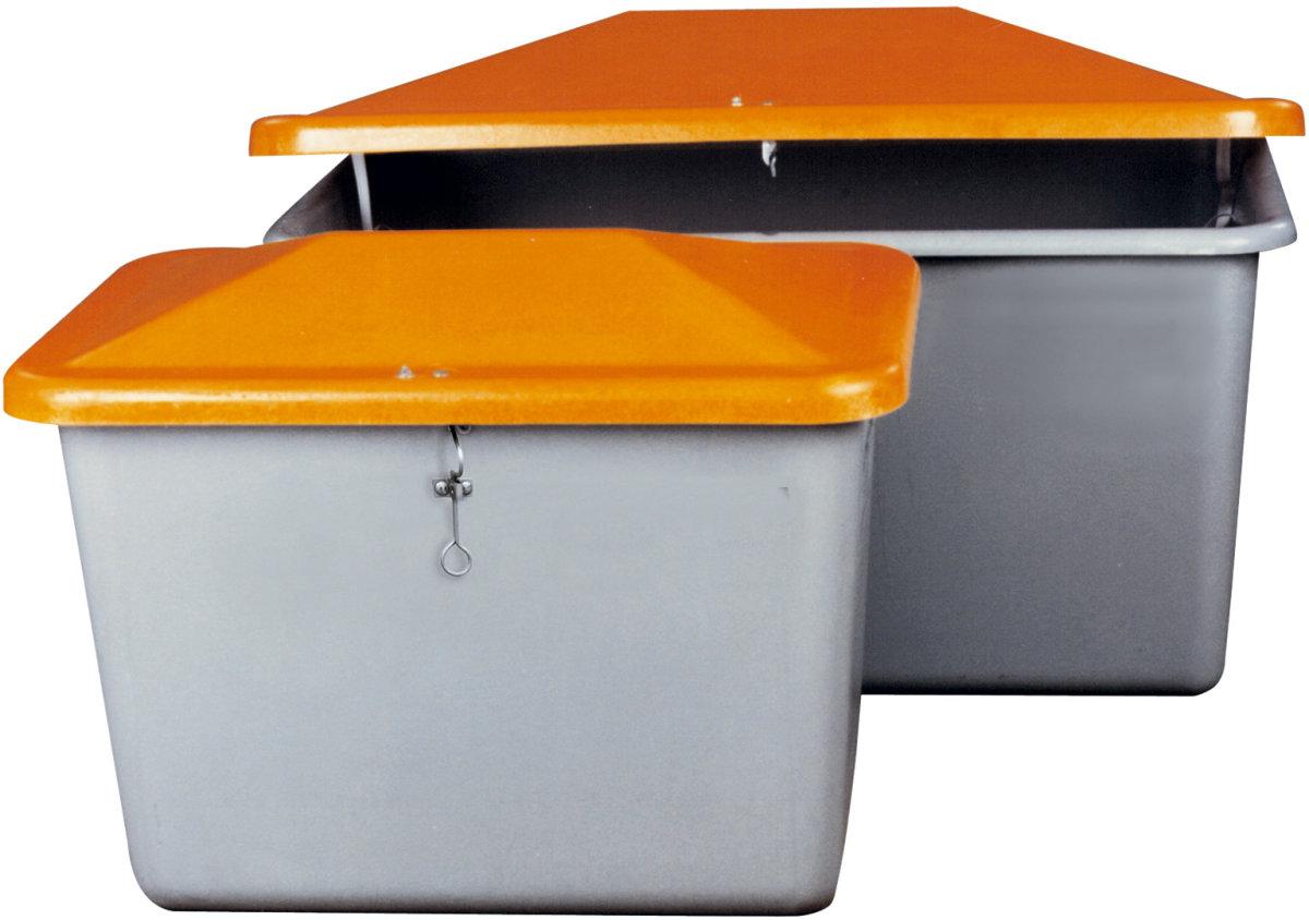 Salt-/sandbeholder 1100 L, Grå/orange