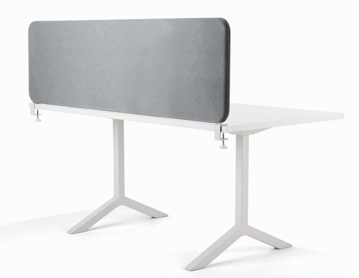 Softline bordskærmvæg grå B2000xH450 mm
