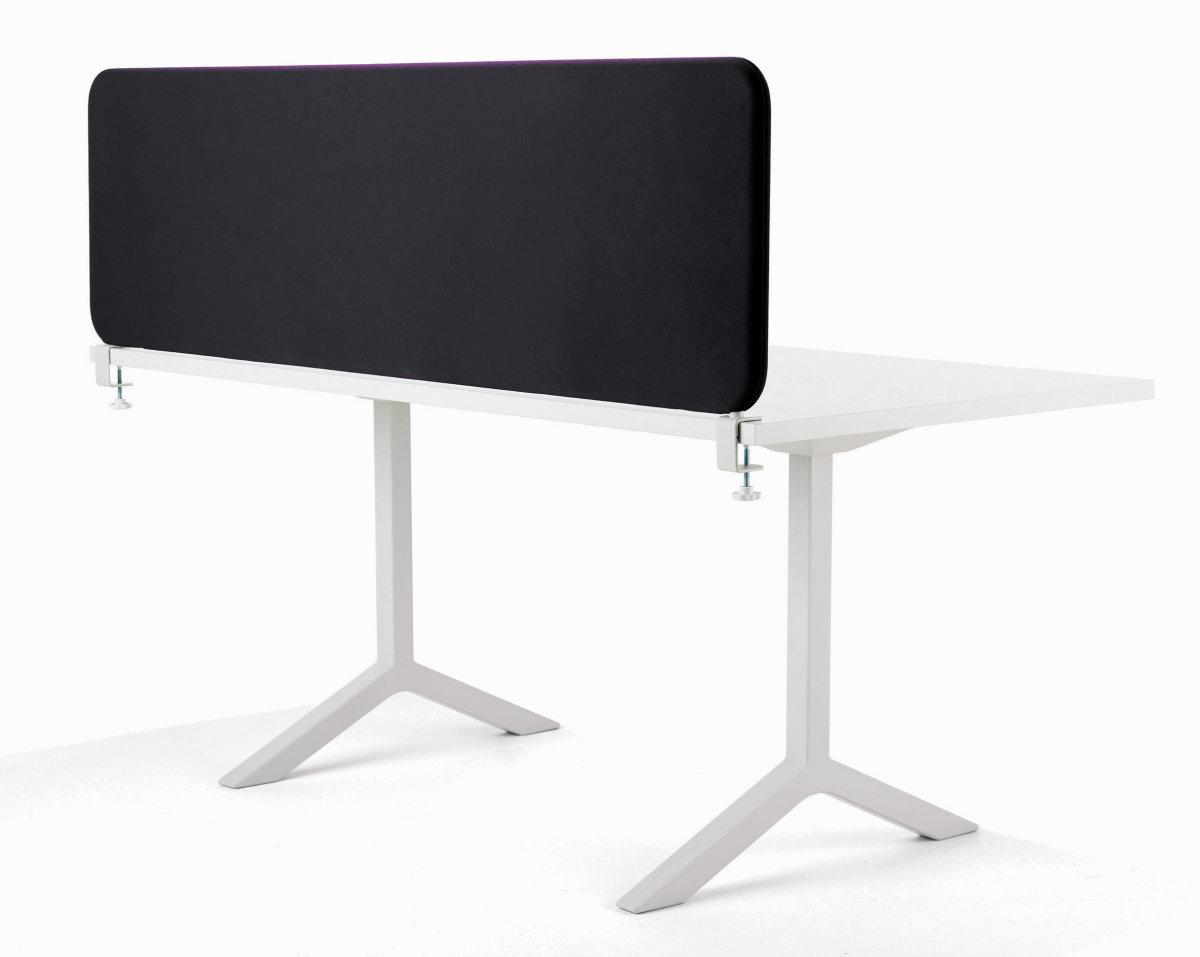 Softline bordskærmvæg sort B1800xH590 mm