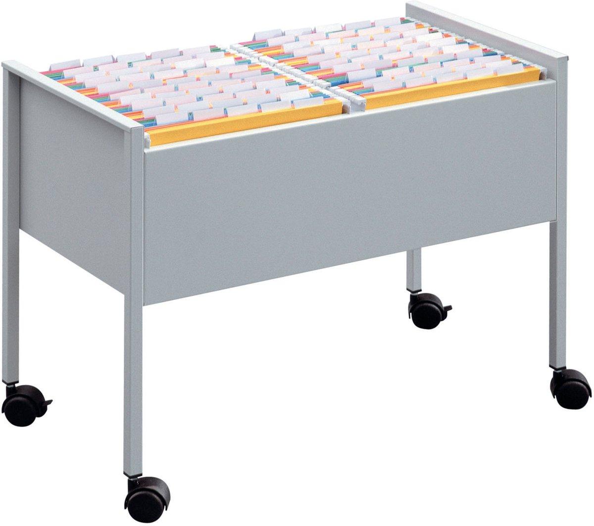 Hængemappetrolley Duo A4,  Sølv