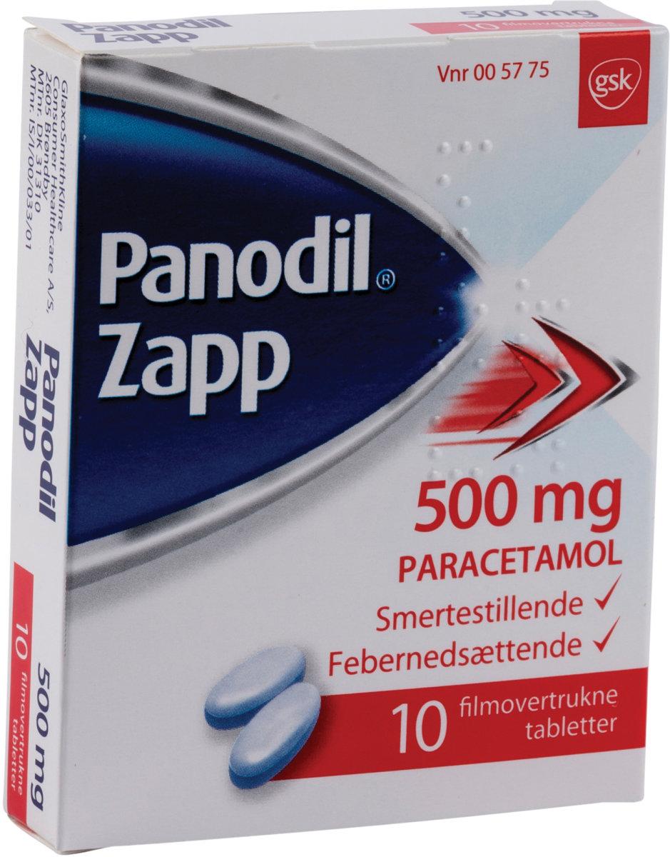 Panodil Zapp Tabletter, 500 mg, 10 stk.