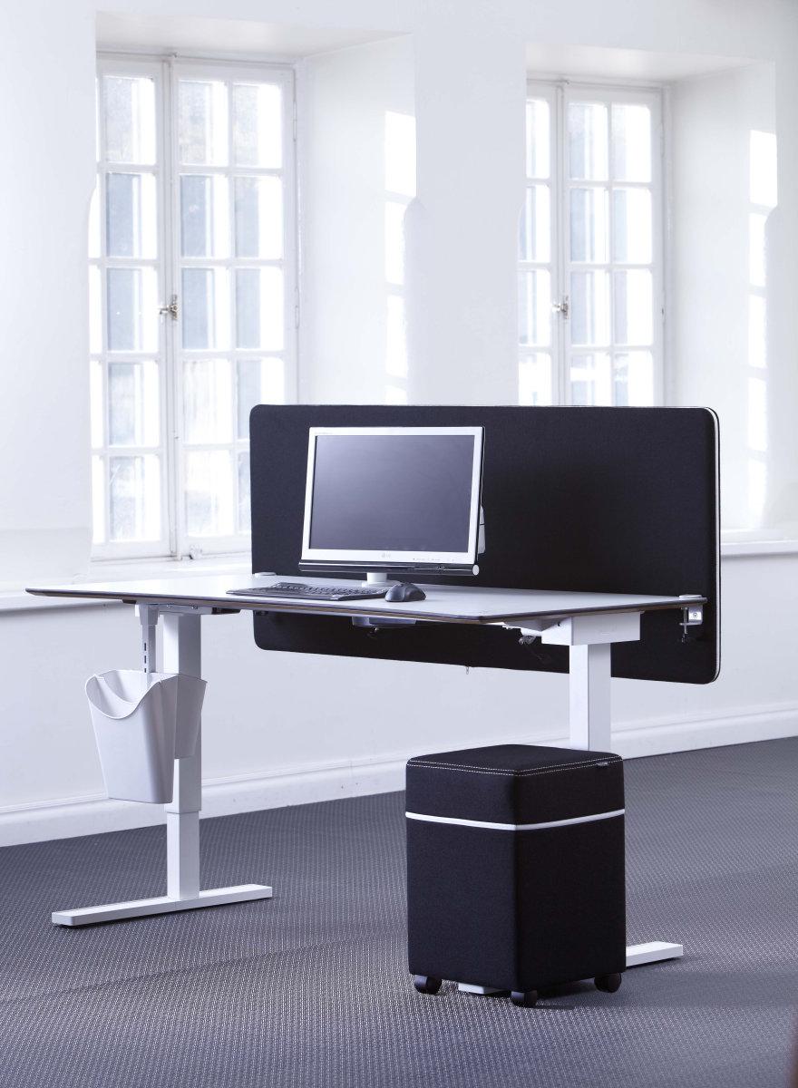 Screenit bordskærmvæg B140xH65 cm sort