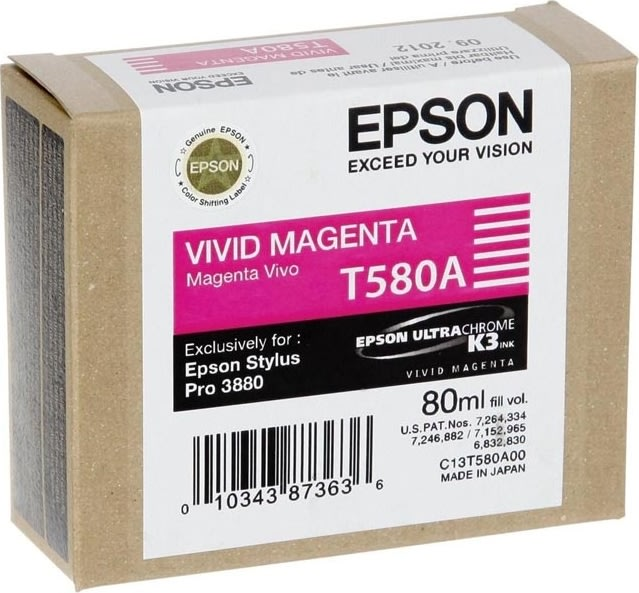 Epson T580A (C13T580A00) blækpatron, magenta