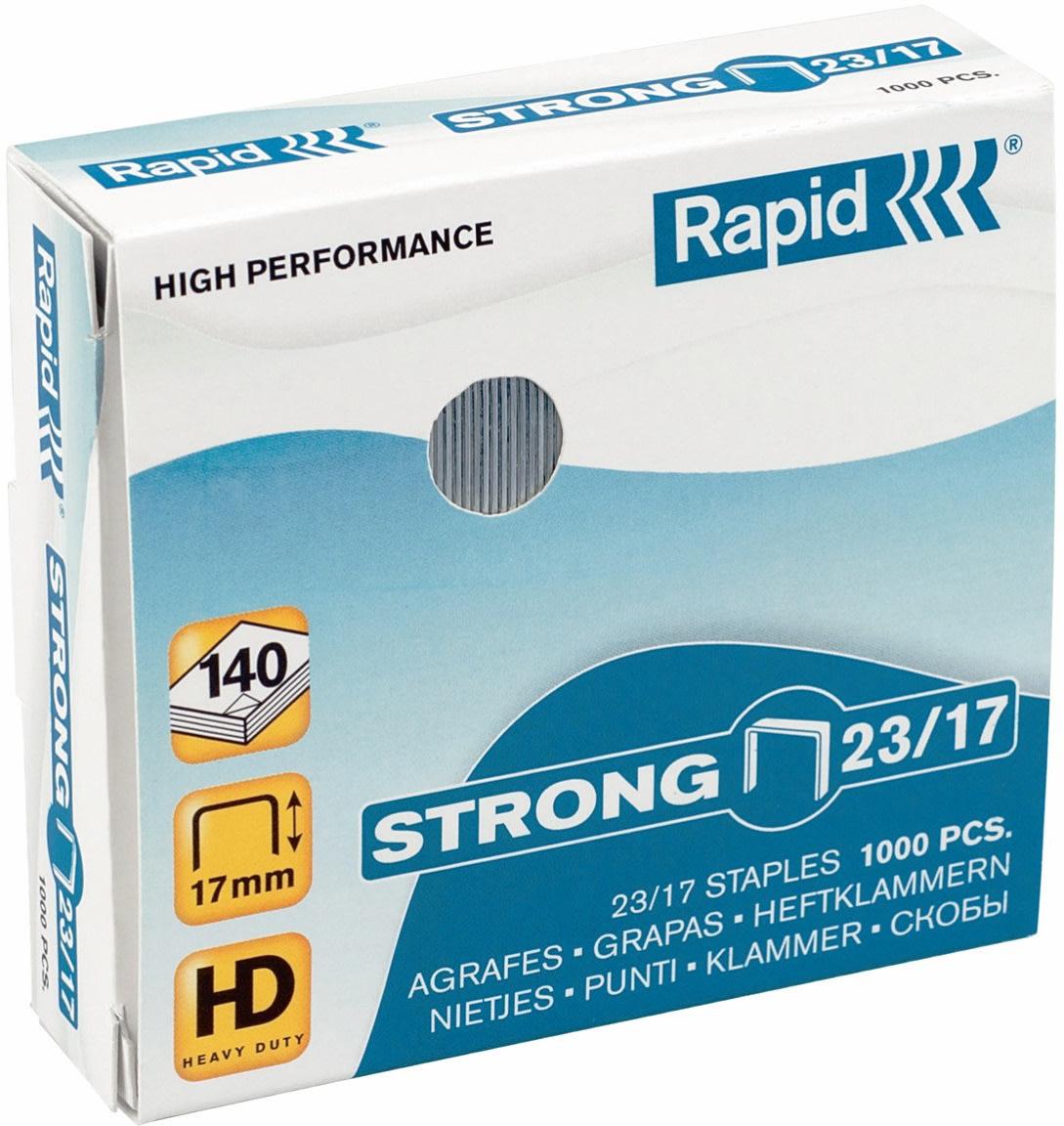 Rapid Strong 23/17 Hæfteklammer, 1000 stk.