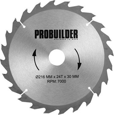 Probuilder klinge, 216x30x2,5 mm, t24