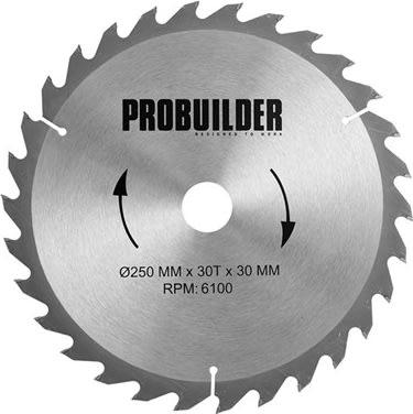 Probuilder klinge, 250x30x3 mm, t30