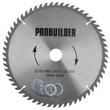 Probuilder klinge, 255x30x3 mm, t60