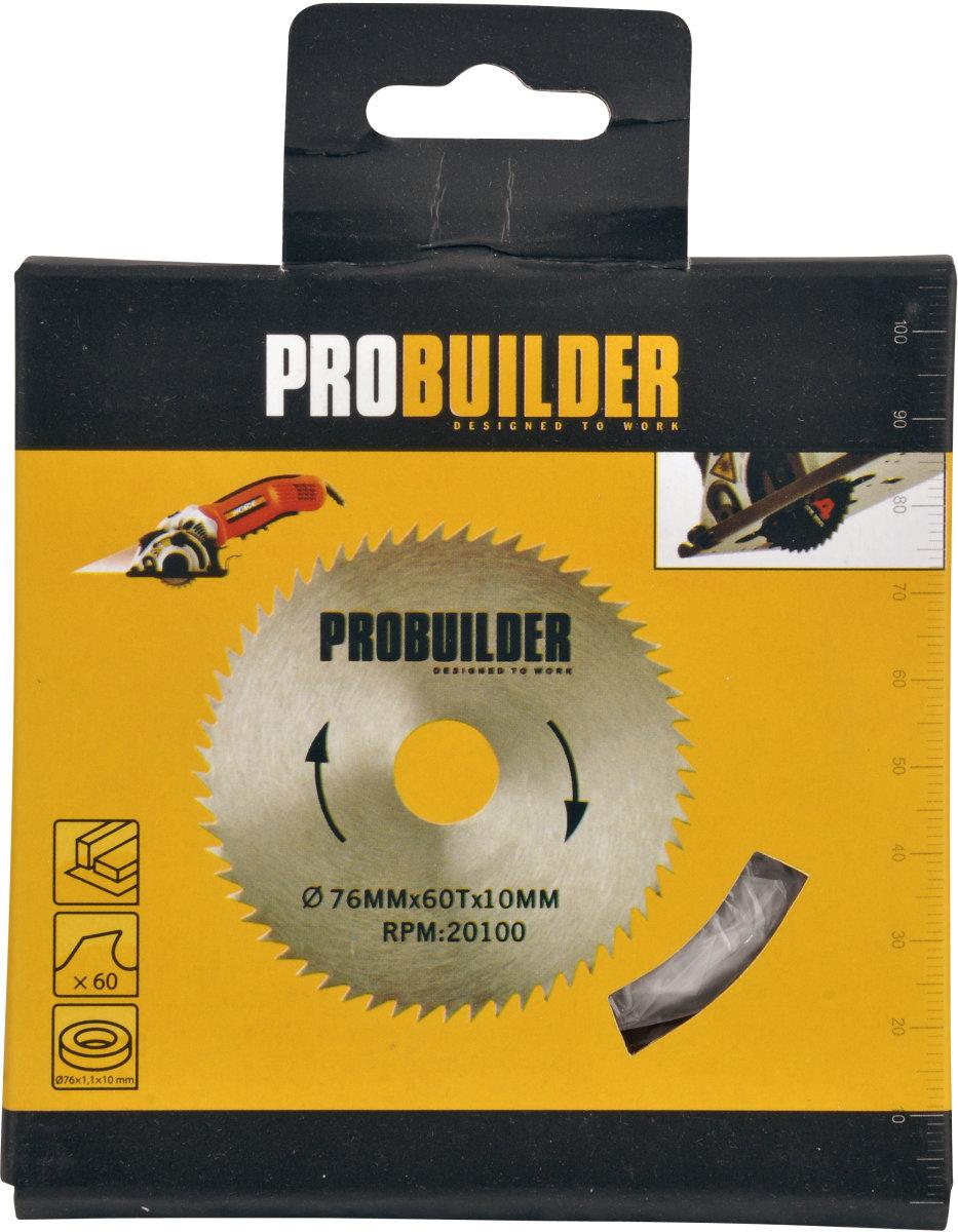 Probuilder klinge, 76x1,1x10 mm, 60t hss