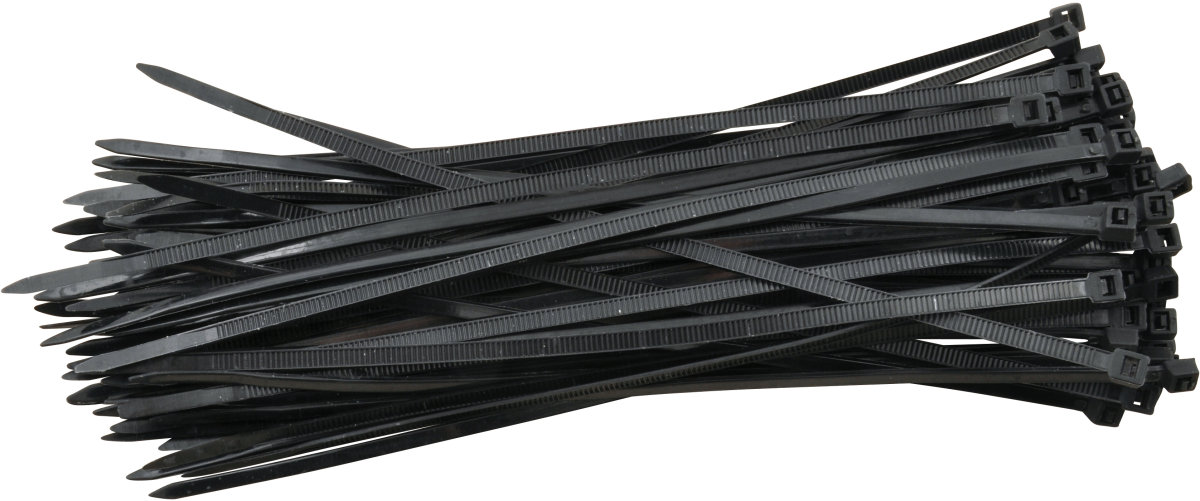 Rawlink kabelstrips, 200 mm, sort, 75 stk.