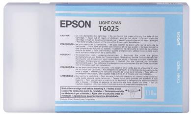 Epson C13T602500 blækpatron, lys blå, 110ml