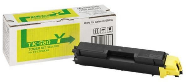 Kyocera TK-580Y lasertoner, gul, 2800s