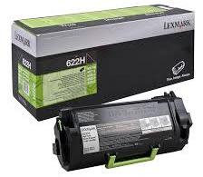 Lexmark 62D2H00 lasertoner, sort, 25000s