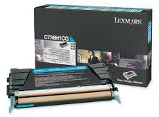 Lexmark C736H1CG lasertoner, blå, 10000s