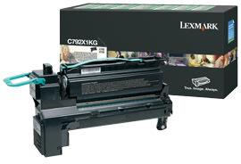 Lexmark C792X1KG lasertoner, sort, 20000s