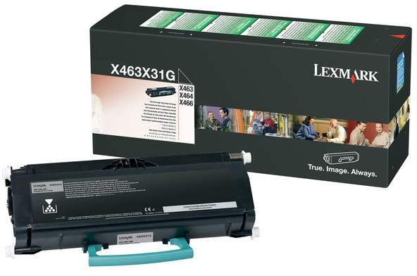 Lexmark X463X31G lasertoner, sort, 15000s