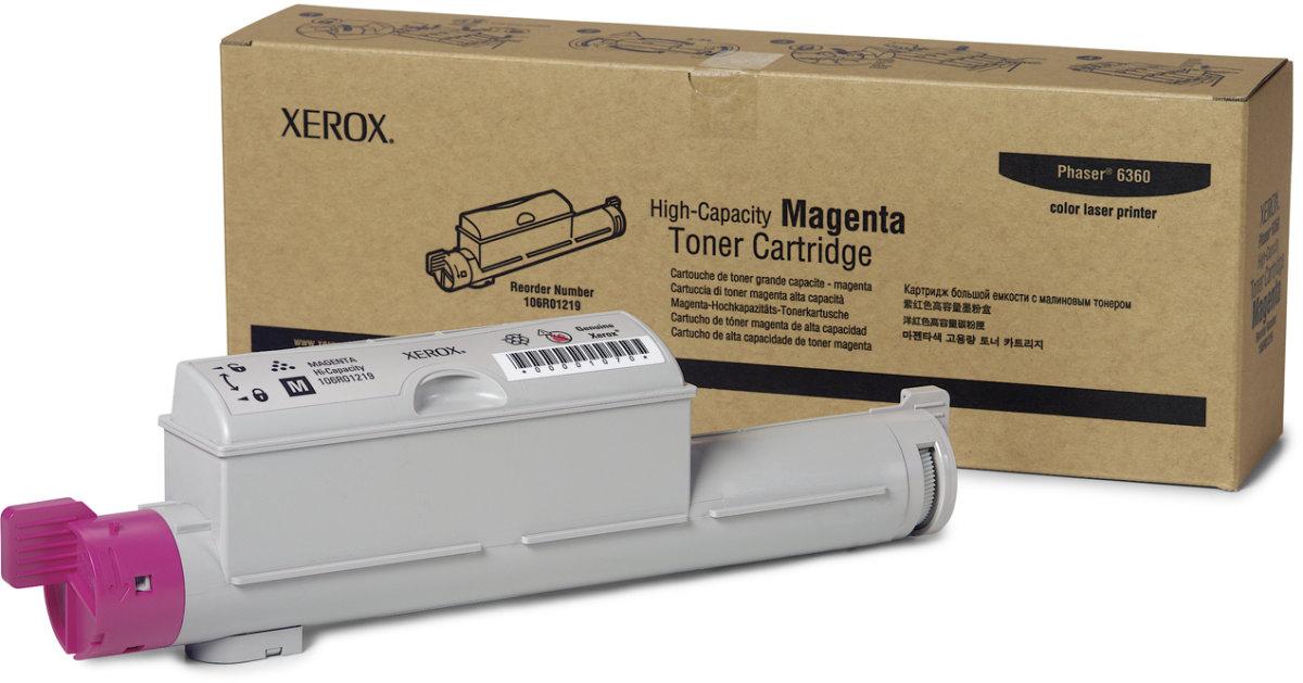 Xerox 106R01219 lasertoner, rød, 12000s