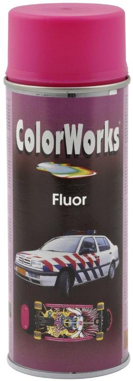 ColorWorks hobbyspray, fluorescerende pink