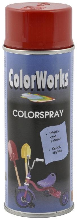 ColorWorks hobbyspray, ildrød