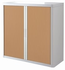 Paperflow Easy Office 1 m, 2 hylder, Hvid/bøg