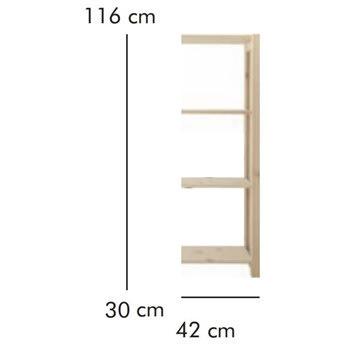 ABC Tilbygningsreol, HxBxD: 116x42x30 cm, natur