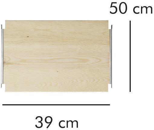 ABC hylde LxD: 39x50 cm, natur