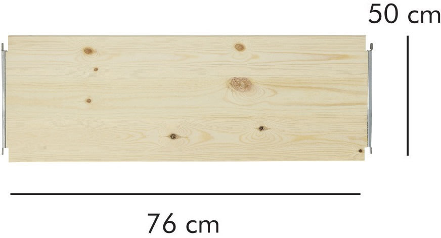 ABC hylde LxD: 76x50 cm, natur