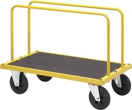 Pladevogn, 1000x600x945, 500 kg, massive hjul