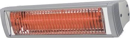 """Terrassevarmer """"RIO"""" 1,5 kW, L:39 cm, Sølv"""