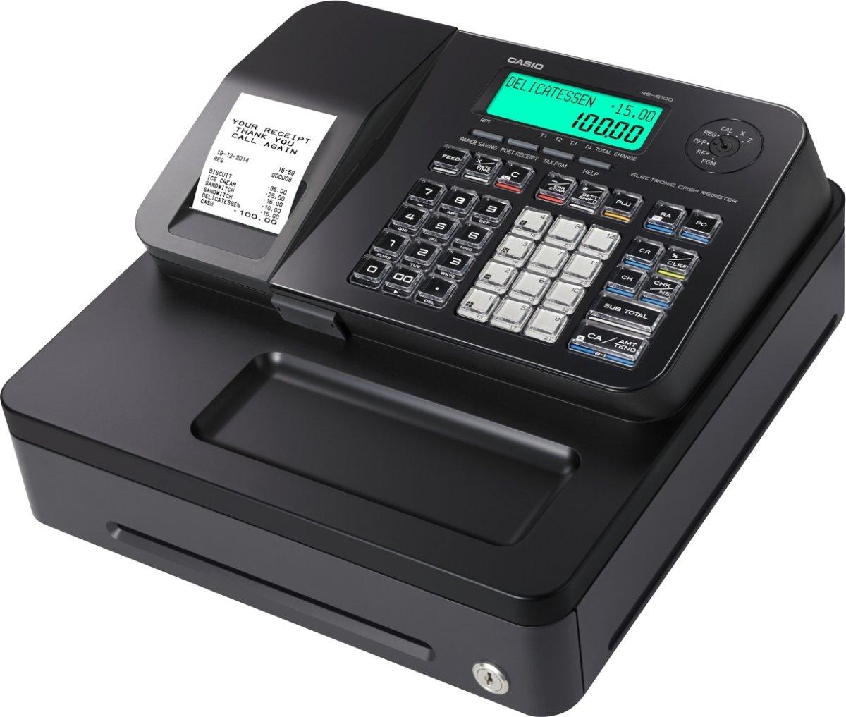 Casio SE-S100S kasseapparat, sort