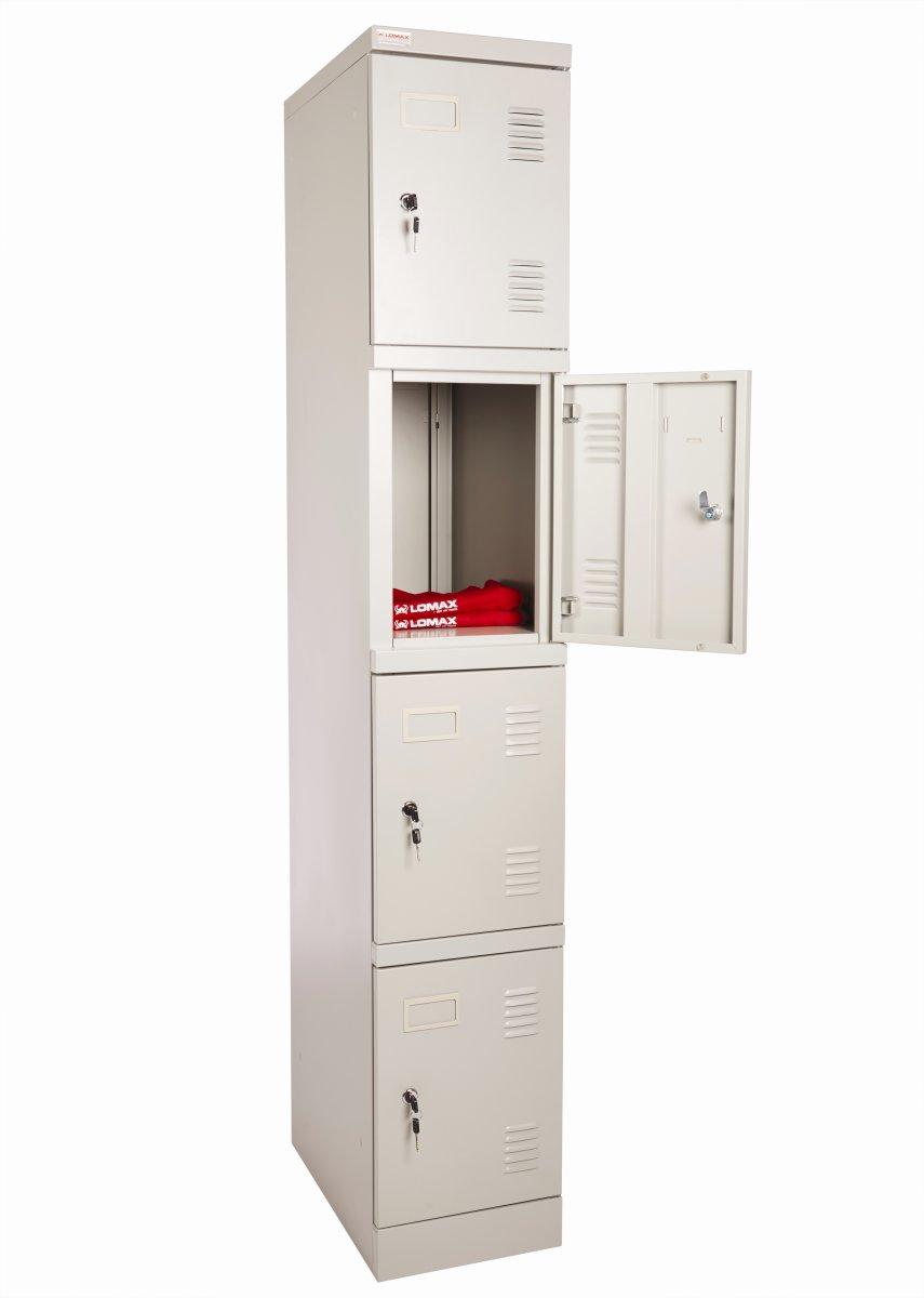 Lomax garderobeskab 4 døre, H180xB30xD50 cm