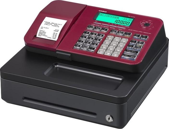 Casio SE-S100S kasseapparat, rød
