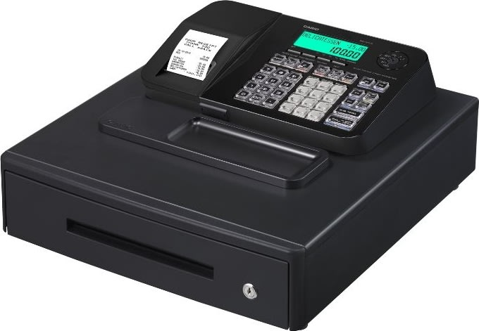 Casio SE-S100M kasseapparat, sort